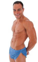 Mens Swimsuit Cover Ups - Split and Lycra Shorts