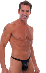 Male Review Stripper Swim Thong in Mystique Black 1