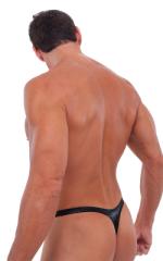 Male Review Stripper Swim Thong in Mystique Black 3
