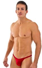 Rio Tanning Bikini Swimsuit in Semi Sheer Lipstick Red ThinSKINZ 1