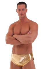 Swimsuit Cover Up Split Running Shorts in Liquid Gold 1