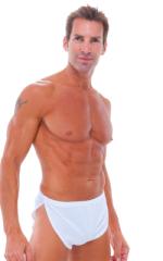 Swimsuit Cover Up Split Running Shorts in White 1