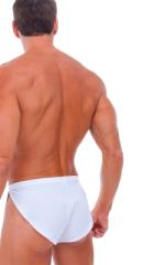 Swimsuit Cover Up Split Running Shorts in White 3