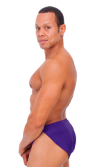 Swimsuit Cover Up Split Running Shorts in Shiny Purple 3