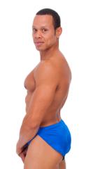 Swimsuit Cover Up Split Running Shorts in Royal Blue 3