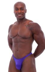 Bodybuilder Posing Suit - Narrow Back in Shiny Purple 1