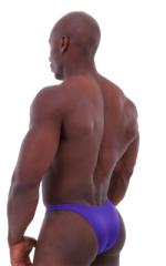 Bodybuilder Posing Suit - Narrow Back in Shiny Purple 3