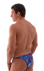 Rio Tanning Bikini Swimsuit in American Flag Collage 3