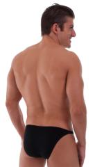 Smooth Front Bikini Bathing Suit in ThinSKINZ Black - Semi Sheer 3