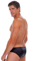 Riviera Swim Suit Brief in Wet Look Black 3