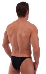 Adjustable to Micro Pouch Tanning Bikini in Black 4