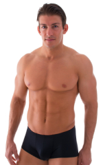 Fitted Pouch - Boxer - Swim Trunks in Black 1