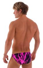 Bikini-Brief Swimsuit in Hot Pink Lightning 3