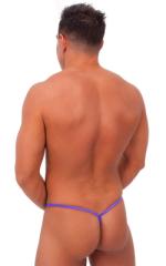 Teardrop G String Swim Suit in Wet Look Purple 3