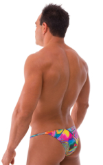 Stuffit Pouch Half Back Tanning Swimsuit in Neon Dali 3