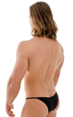 Stuffit Pouch Half Back Tanning Swimsuit in Semi Sheer ThinSKINZ Black 3