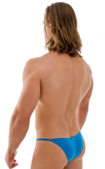 Stuffit Pouch Half Back Tanning Swimsuit in Semi Sheer ThinSKINZ Sapphire 3