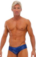 Riviera Swim Suit Brief in Wet Look Navy Blue 1