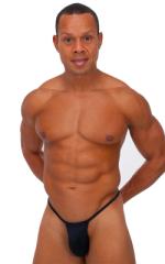 Roman G String Swim Thong in Black Tricot nylon/lycra 1