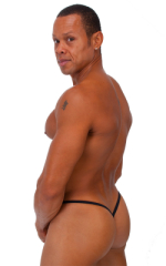 Roman G String Swim Thong in Black Tricot nylon/lycra 3