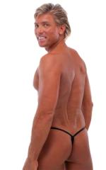 Roman G String Swim Thong in Mystique Black-Black 3