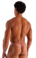 Roman G String Swim Thong in Metallic Mystique Bubblegum Pink 3