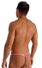 Stuffit Pouch G String Swimsuit in Metallic Mystique Bubblegum Pink 3