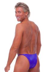 Skinny Side Half Back Swim Suit in Wet Look Purple 3