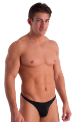 T Back Thong Swimsuit in Semi Sheer ThinSKINZ Black 1