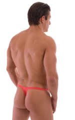 T Back Thong Swimsuit in Semi Sheer ThinSKINZ Apricot 3