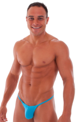 Stuffit Pouch G String Swimsuit in Semi Sheer ThinSKINZ Sapphire 1