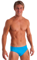 Swim-Dive Competition Brief in Wet Look Turquoise 1