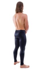 Mens Leggings Tights in Wet Look Black 3