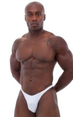 Bodybuilder Posing Suit - Narrow Back in Optic White 1