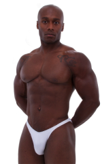 Posing Suit - Competition Bikini Cut in Optic White 1
