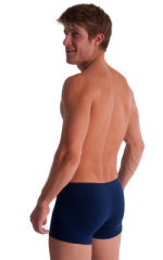 3-Pack - Boxer Length Underwear in Dark Navy cotton/lycra 3