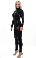 Back Zipper Catsuit-Bodysuit in Mystique Black on Black 1