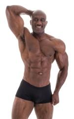 Posing NPC-IFBB Physique Low Cut Short in Shiny Black 6