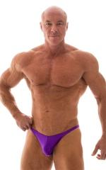Posing Suit - Competition Bikini Cut in Wet Look Purple 1