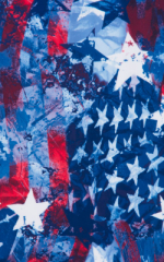 American Flag Collage tricot-poly-spandex 1