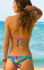 Surfer Girl Swimsuit Bottom in Hawaiian Floral 3