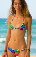 Surfer Girl Swimsuit Bottom in Hawaiian Floral 1