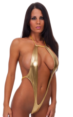 Vegas Micro Monokini G String in Liquid Gold 1