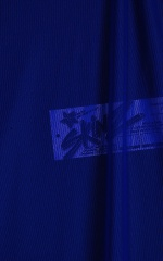 Swimsuit Cover Up Split Running Shorts in Royal Blue Stretch Mesh Fabric