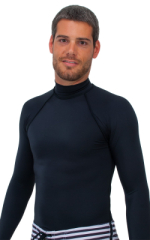 Swim Skin Rash Guard in Black Tricot nylon/lycra 1