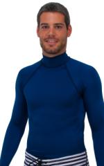 Swim Skin Rash Guard in Navy Blue Tricot nylon/lycra 1