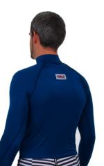 Swim Skin Rash Guard in Navy Blue Tricot nylon/lycra 3
