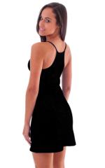 Beach Cover Up Flare Mini Dress in Black nylon/lycra 3