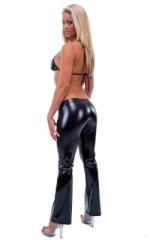 Hiphugger Boot Cut Pants in Gloss Black Vinyl 3