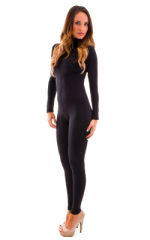 Front Zipper Catsuit-Bodysuit for Women in Black 1